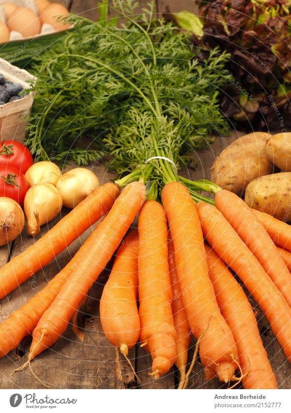 Möhrchen Lebensmittel Gemüse Bioprodukte Vegetarische Ernährung Sommer Gesundheit lecker orange antioxidant carrots concept cucumber delicious diet gardening
