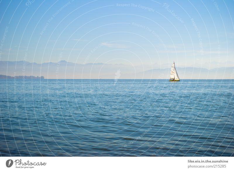 sail away with me honey blau Wasser Ferien & Urlaub & Reisen Sommer Einsamkeit ruhig Ferne Erholung Freiheit See Wasserfahrzeug Wellen Hintergrundbild Ausflug