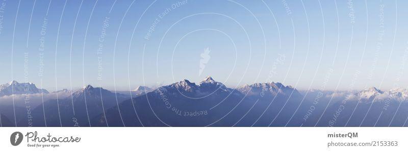 Alpenanblick für Frühaufsteher. Natur Berge u. Gebirge Umwelt Felsen Klima Gipfel Schneebedeckte Gipfel Panorama (Bildformat)