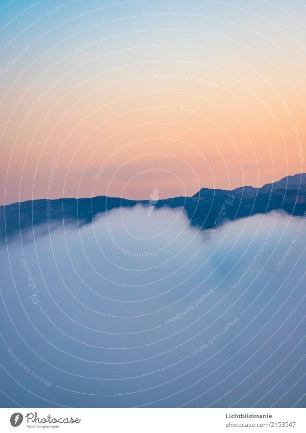 Morgenwolke Freude ruhig Dampfbad Freiheit Expedition Natur Landschaft Urelemente Erde Luft Himmel Wolken Horizont Sonne Klimawandel Schönes Wetter Felsen