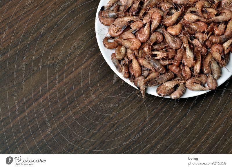 qwertz Ernährung Lebensmittel Fisch gut Teller Maserung Speise Meeresfrüchte Fingerfood Krabbe pulen Slowfood Garnelen Nordseekrabbe