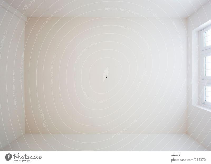 Decke Mauer Wand ästhetisch authentisch einfach groß neu schön weiß Zimmerdecke Fenster Raufasertapete Innenaufnahme Experiment Textfreiraum Mitte