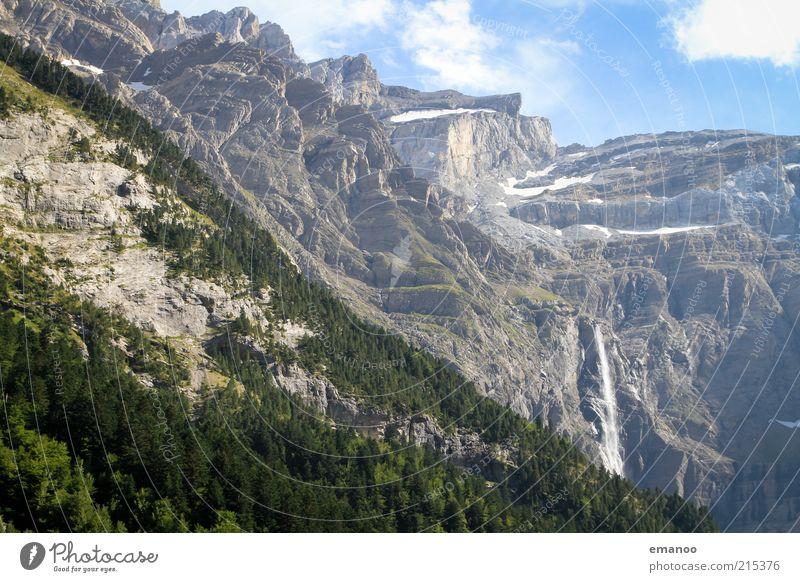 la grande cascade Freiheit Sommer Berge u. Gebirge Natur Landschaft Klima Wetter Wald Felsen Alpen Gipfel Gletscher Schlucht hoch schön Wasser Wasserfall