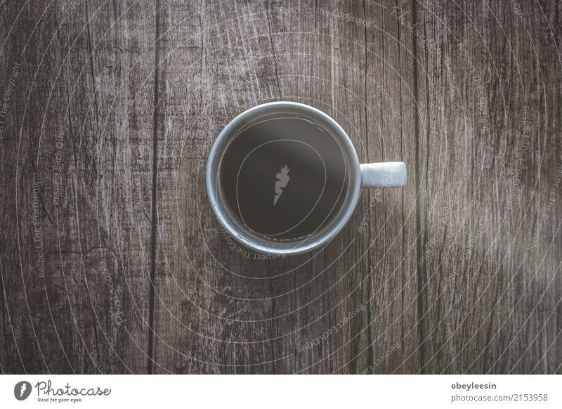 Tasse Kaffee für den Morgen, Farbe weiß Speise Wege & Pfade grau braun oben Design hell frisch Aussicht Sauberkeit Getränk heiß Frühstück