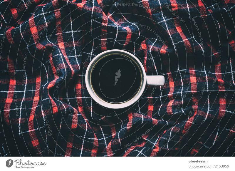 Tasse Kaffee für den Morgen Farbe weiß Speise Wege & Pfade grau braun oben Design hell frisch Aussicht Sauberkeit Getränk heiß Frühstück