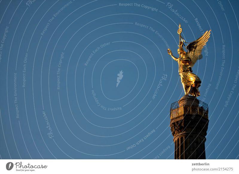 Else von links Abend Berlin Tiergarten Denkmal Deutschland Dämmerung else Feierabend Körper Figur Goldelse gold großer stern Hauptstadt Berlin-Mitte Siegessäule