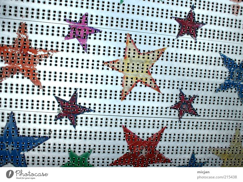 Arc of Stars |In Lack of Space Metall Stahl Stern blau mehrfarbig gelb gold grau grün rosa rot silber Farbe Stern (Symbol) Gitter gemalt Symbole & Metaphern