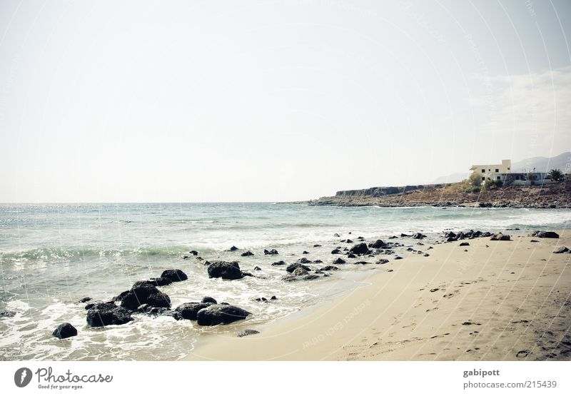 noch mehr Meer Himmel Sommer Strand Ferien & Urlaub & Reisen ruhig Einsamkeit Ferne Leben Erholung Freiheit Stein Wellen Felsen Insel Tourismus