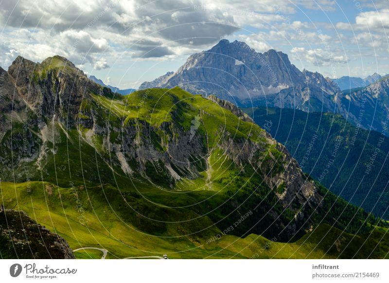 Dolomiten - Blick vom Rifugio Nuvolau Ferien & Urlaub & Reisen Abenteuer Ferne Freiheit Berge u. Gebirge wandern Landschaft Wolken Felsen Alpen Gipfel
