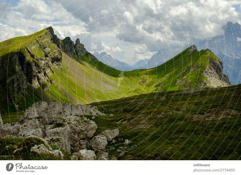Dolomiten - Nähe Refugio Tissi Ferien & Urlaub & Reisen Abenteuer Ferne Sommer Berge u. Gebirge wandern Natur Landschaft Hügel Felsen Alpen Italien Europa