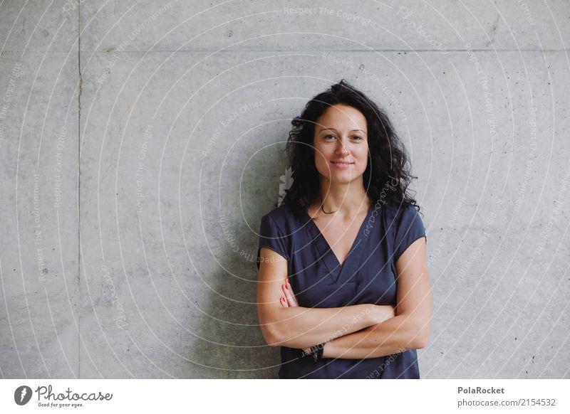 #A5# selbstbewusst in die Zukunft feminin 1 Mensch Kunst ästhetisch Arzt Krankenschwester Karriere Beruf Passbild selbstbewußt Zukunftsangst Zukunftsorientiert