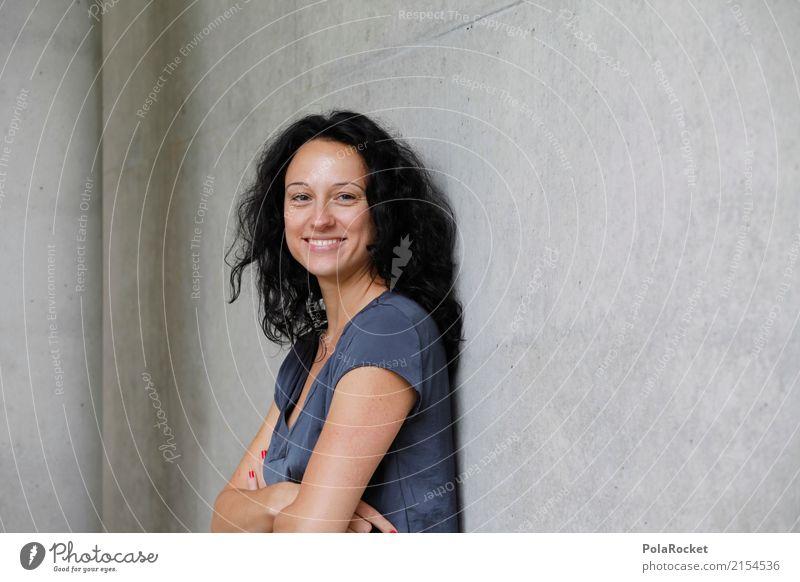#A# Smile Frau Wand Kunst ästhetisch Zukunft Beruf Arzt Karriere Berufsausbildung Kunstwerk Frauengesicht Krankenschwester Betonwand Zukunftsorientiert