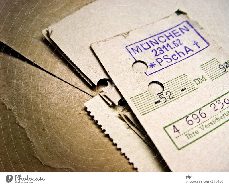 altpapier alt Papier Wandel & Veränderung Vergänglichkeit Ziffern & Zahlen München Vergangenheit Karton sparen rechnen Mathematik Stempel Wissenschaften sparsam Bayern Quittung