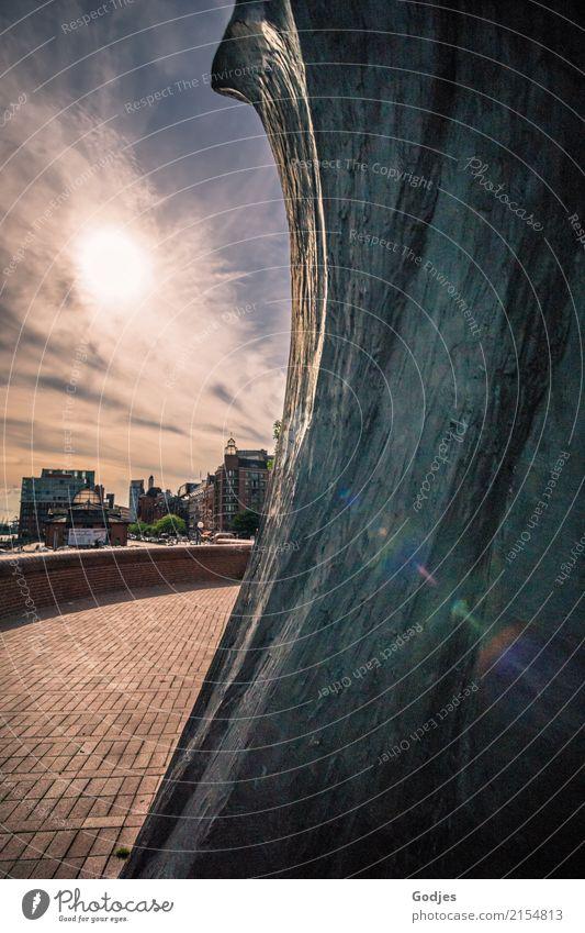 Monumental Architektur Leben Kunst Kultur Abenteuer Hamburg Hoffnung entdecken Bauwerk Sehenswürdigkeit Sehnsucht Hafen Hauptstadt Stadtzentrum Fernweh Mut
