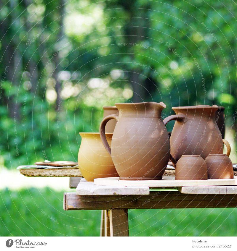 Töpferei Natur grün Sommer Wiese Gras Garten braun hell Umwelt Tisch neu Tasse Kunsthandwerk Werkstatt Ton Licht