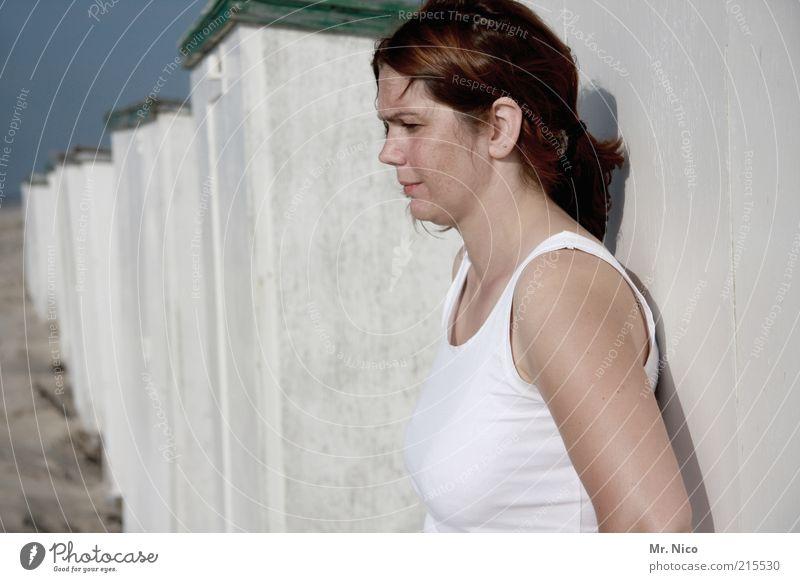 3..2..1.. Frau schön weiß Sommer Strand Gesicht Ferien & Urlaub & Reisen Erholung feminin Haare & Frisuren Kopf Haut Erwachsene Arme frisch Perspektive