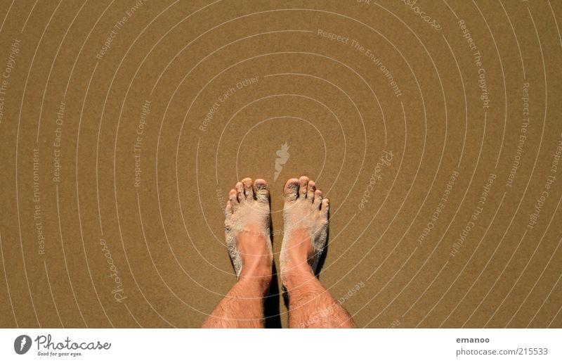atlantic feet Mensch Natur Ferien & Urlaub & Reisen Sommer Strand Sand Küste Fuß braun dreckig warten maskulin Tourismus stehen Sommerurlaub Mann