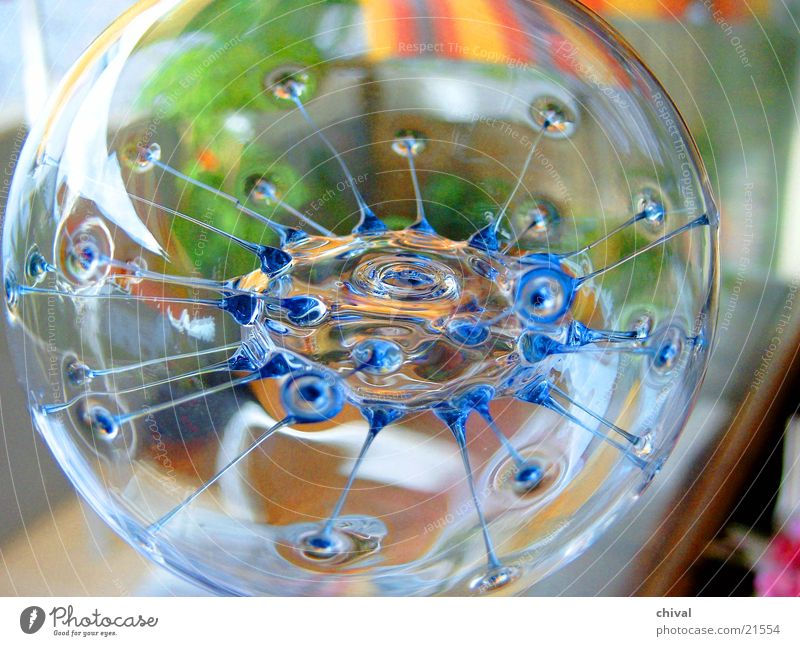 Glaskugel Hintergrundbild Häusliches Leben Lichtbrechung Vordergrund