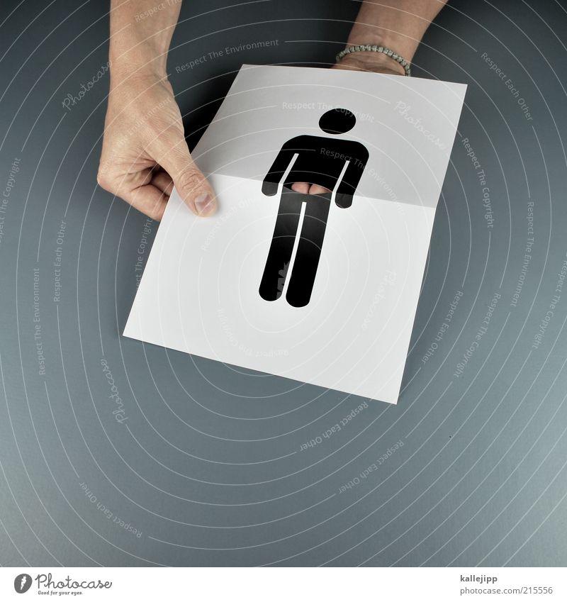 bob der baumeister Mensch Hand Freude maskulin Finger Lifestyle Papier Gesäß Beruf Humor Handwerker Täuschung Brust Trick Piktogramm Dekolleté