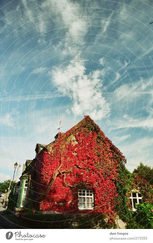 the village Ferien & Urlaub & Reisen Haus Traumhaus Garten Herbst Cong Co.Mayo Republik Irland Einfamilienhaus alt Originalität wild blau rot Idylle Nostalgie