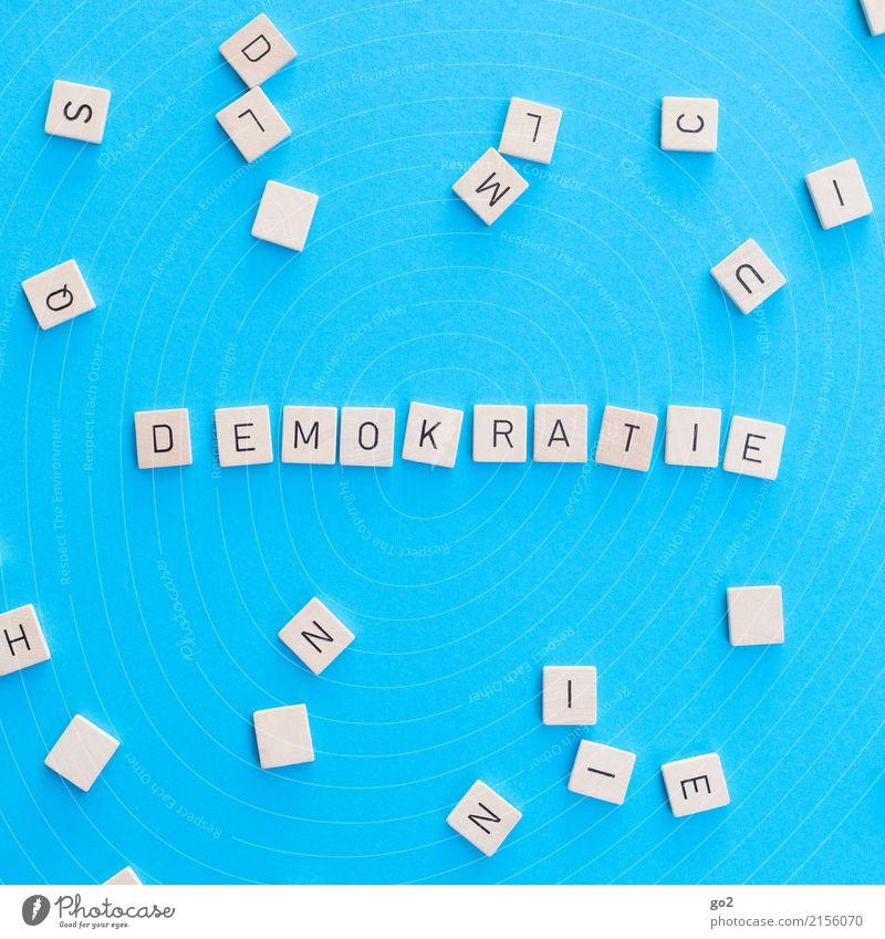 Demokratie blau Spielen Schule Schriftzeichen Ordnung Perspektive Wandel & Veränderung Macht Bildung wählen Gesellschaft (Soziologie) Politik & Staat Wahlen