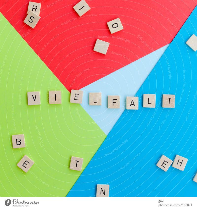 Vielfalt Spielen Schriftzeichen Fröhlichkeit Zusammensein positiv Freude Optimismus Güte Gastfreundschaft Selbstlosigkeit Menschlichkeit Solidarität