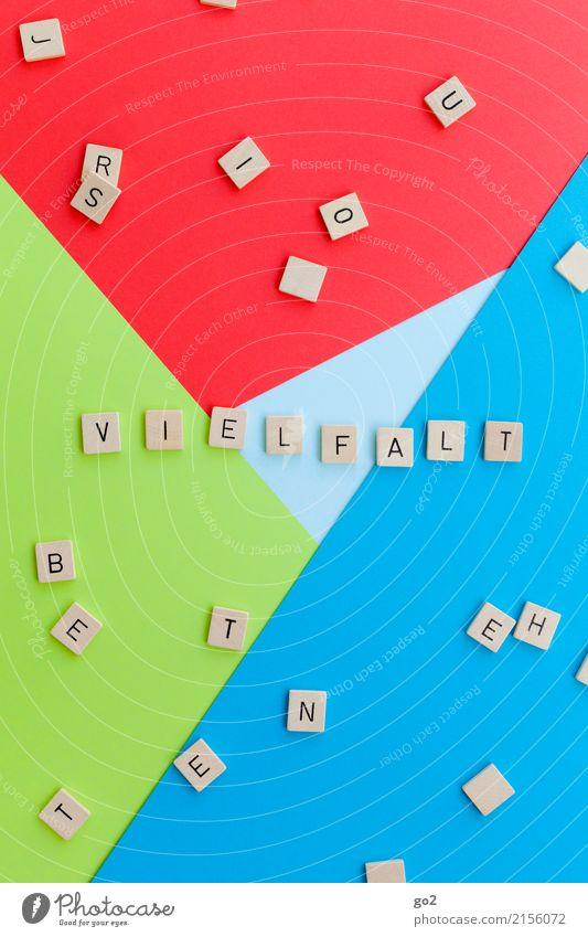 Vielfalt Spielen Schriftzeichen ästhetisch Fröhlichkeit mehrfarbig Güte Gastfreundschaft Menschlichkeit Solidarität Toleranz beweglich Leben Freundschaft