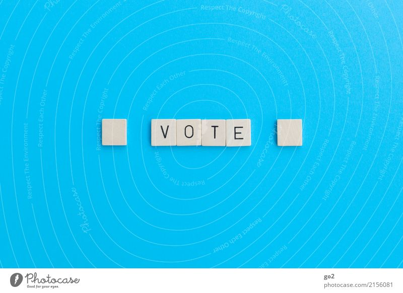 Vote blau Zufriedenheit Schriftzeichen Perspektive Zukunft einfach Wandel & Veränderung planen Ziel wählen Gesellschaft (Soziologie) Politik & Staat Konkurrenz