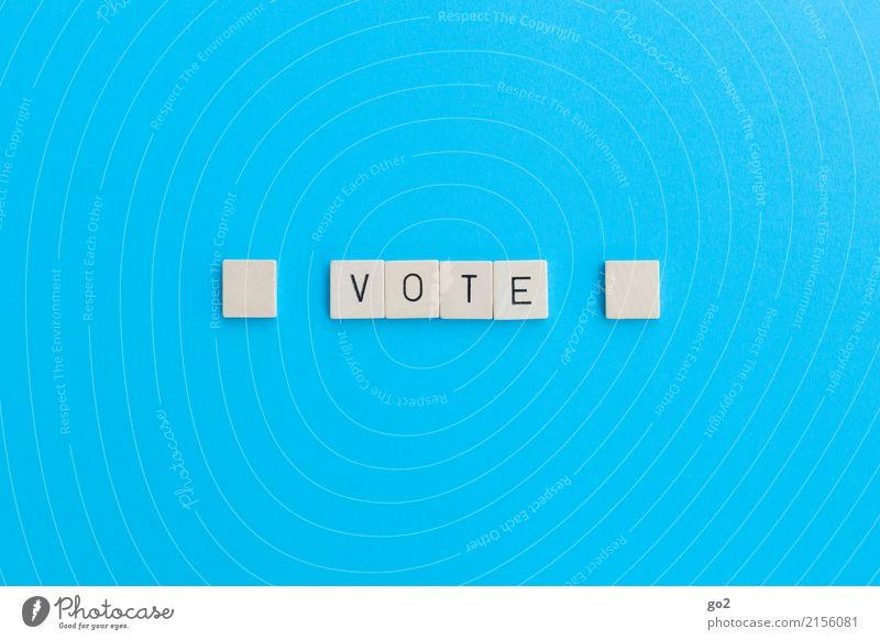 Vote Schriftzeichen wählen einfach blau Zufriedenheit Fortschritt Gesellschaft (Soziologie) gleich Konkurrenz Problemlösung Perspektive planen Politik & Staat