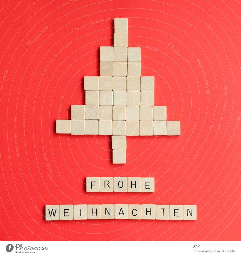 Frohe Weihnachten Weihnachten & Advent rot Spielen Freizeit & Hobby Schriftzeichen Kreativität Idee Zeichen Weihnachtsbaum Inspiration Vorfreude