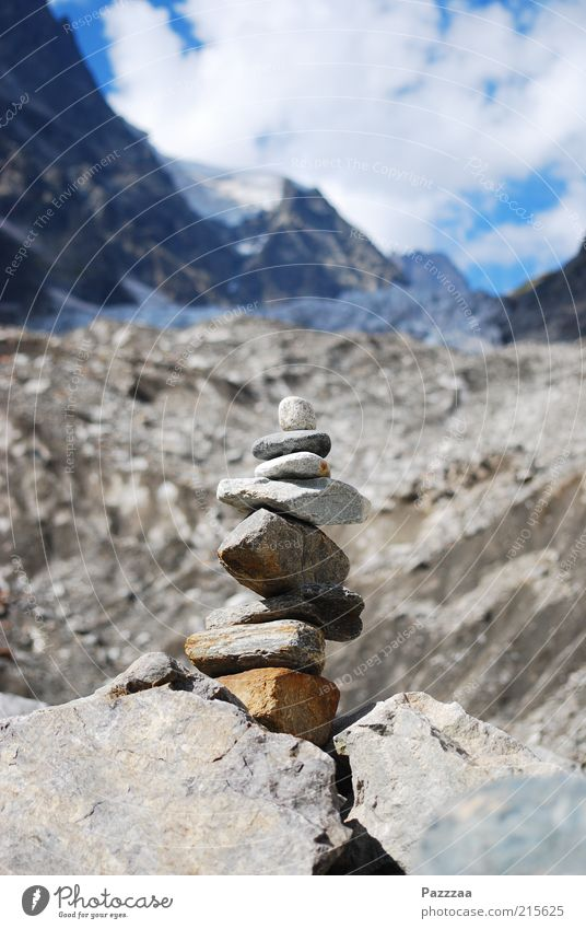 Gebirgstouristenkram Himmel Natur Wolken Ferne Schnee Berge u. Gebirge Landschaft Stein Ausflug wandern hoch Felsen Tourismus Turm Alpen Klettern