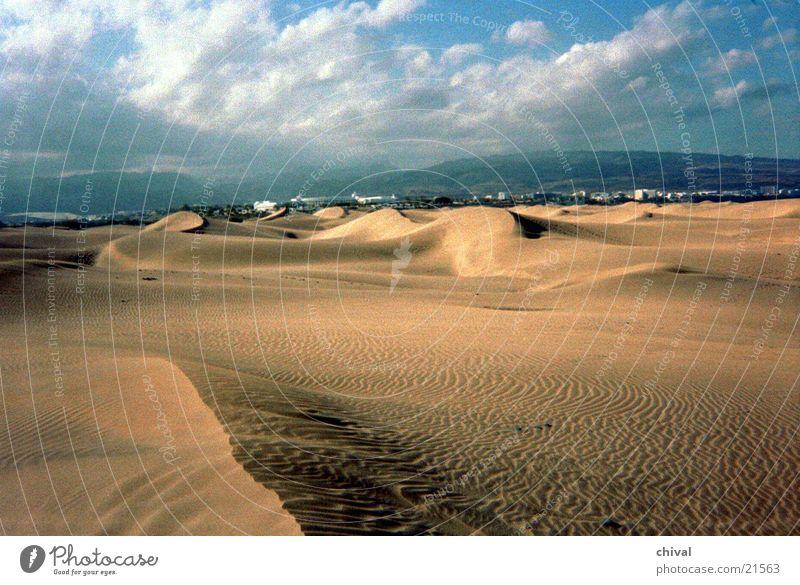 Wanderdüne Wolken Wind Wüste Stranddüne