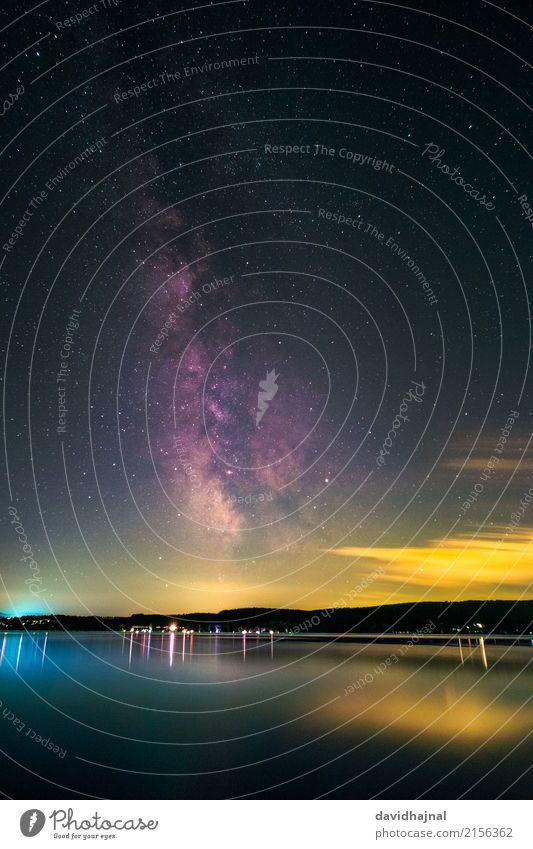 Milchstraße über dem Bodensee Ferien & Urlaub & Reisen Tourismus Sightseeing Sommer Sommerurlaub Strand Wissenschaften Raumfahrt Astronomie Umwelt Natur