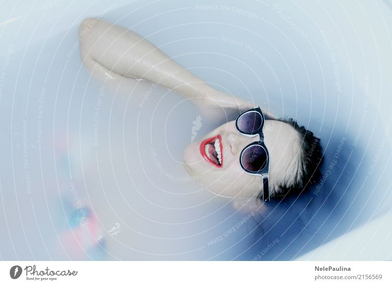 Hawai Girl Mensch Jugendliche Junge Frau schön Freude 18-30 Jahre Gesicht Erwachsene Leben Lifestyle Gesundheit feminin Haare & Frisuren Party Schwimmen & Baden