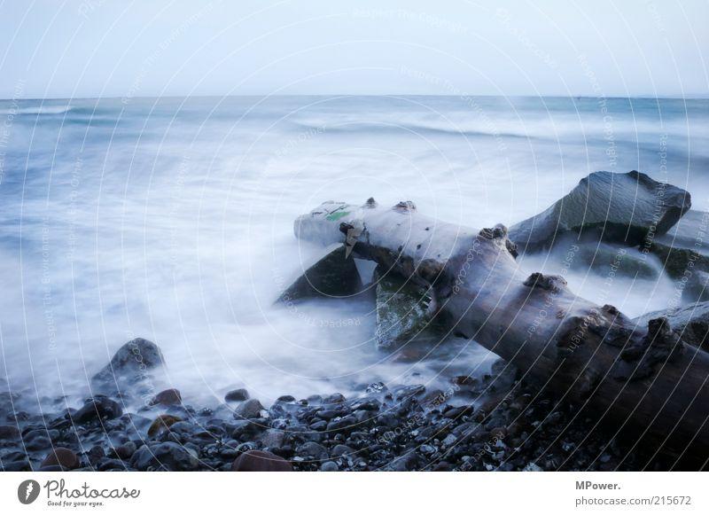 Ostküste Natur Wasser schön Meer blau Strand kalt Bewegung Stein Landschaft Küste Wellen Nebel Wind Umwelt nass