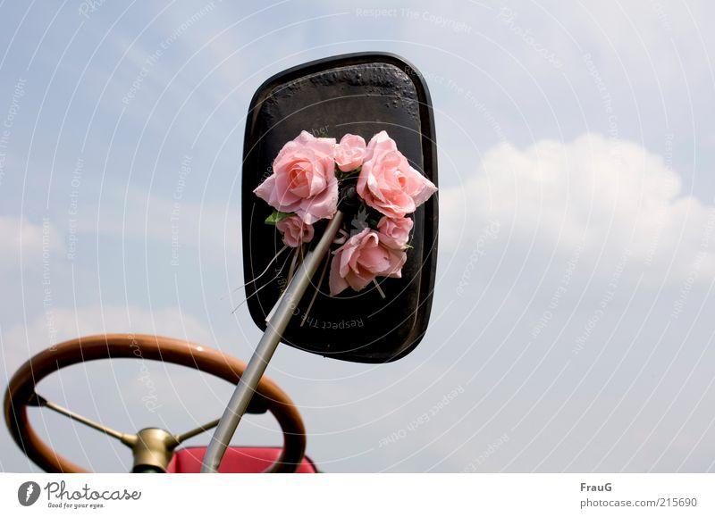 festlich geschmückt Stil Feste & Feiern Arbeitsplatz Himmel Wolken Schönes Wetter Rose Traktor Spiegel Holz Metall Leder alt einfach elegant historisch