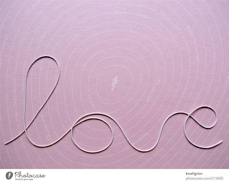 Rosarote Liebe Schriftzeichen rund schön rosa weiß Gefühle Freude Glück Verliebtheit Romantik Partnerschaft Kurve Farbfoto Studioaufnahme Menschenleer