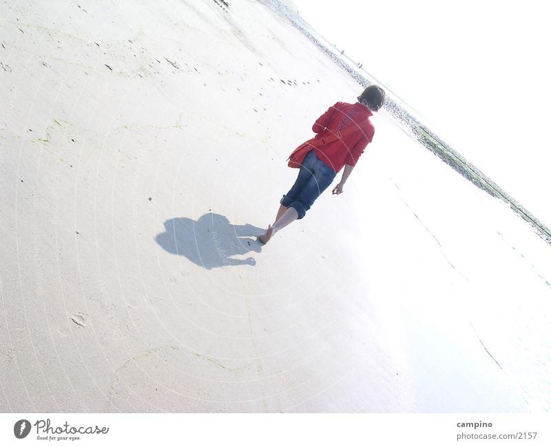 Strand Frau Einsamkeit Sand Insel Norderney