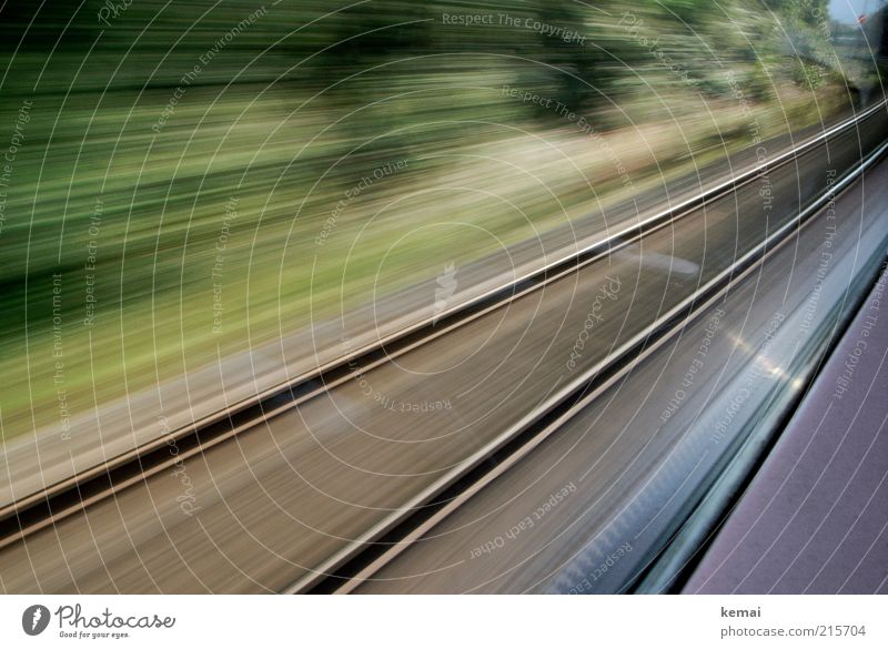 Zügig Ferien & Urlaub & Reisen Bewegung Wege & Pfade Ausflug Verkehr Eisenbahn Geschwindigkeit fahren Güterverkehr & Logistik Gleise Verkehrswege Mobilität