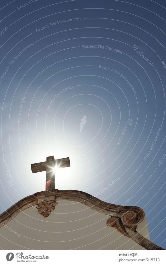 Göttlich. ruhig Religion & Glaube Kraft Hoffnung Macht Zukunft Kirche Dach Kitsch einzigartig Christentum Christliches Kreuz Kreuz Vergangenheit historisch heilig