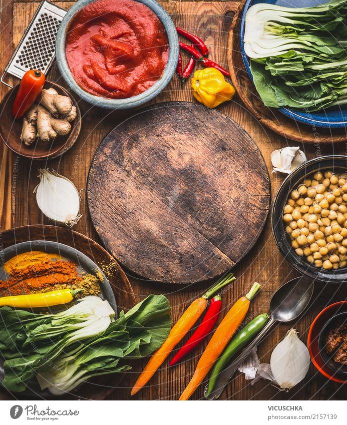 Vegetarische Kochzutaten Gesunde Ernährung gelb Hintergrundbild Stil Lebensmittel Design Tisch Kräuter & Gewürze Küche Gemüse Restaurant Bioprodukte Geschirr