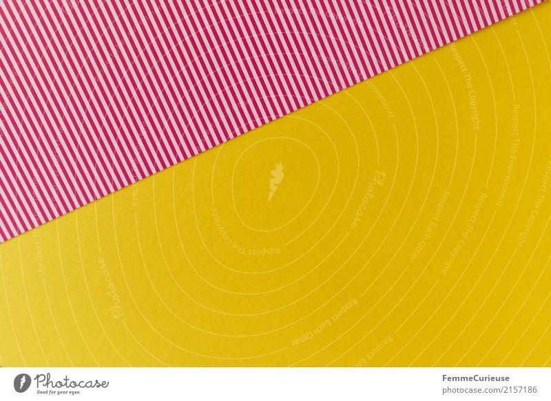 Muster (04) Schreibwaren Papier Kreativität Karton gestreift rot-weiß gelb sommerlich Strukturen & Formen Geometrie Design Bastelmaterial Farbfoto Innenaufnahme