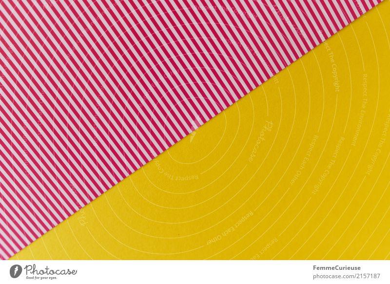 Muster (08) gelb Design Linie Kreativität Papier Geometrie gestreift Karton sommerlich Schreibwaren Dreieck Bastelmaterial rot-weiß
