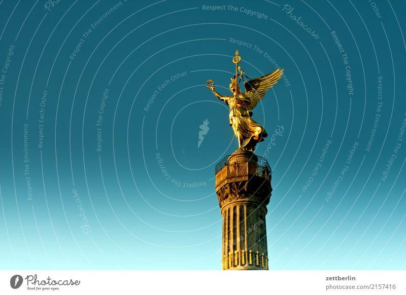 Viktoria (vergoldet) Abend Berlin Denkmal Kriegerdenkmal Deutschland Dämmerung else Feierabend Körper Figur Goldelse großer stern Hauptstadt Mitte Berlin-Mitte