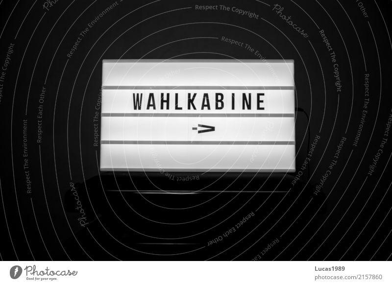 Wahlkabine wahlkabine Führerhaus Schilder & Markierungen Lampe leuchtanzeige Leuchtreklame Anzeige leuchten Wahlen Wahlkampf Bundestagswahlen Landtagswahl