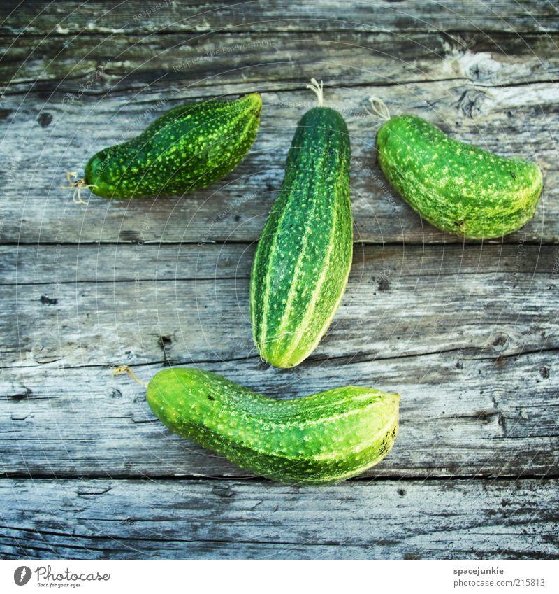 Gurkennase Natur Freude Gesicht Ernährung Holz Glück Lebensmittel Gesundheit Zufriedenheit Fröhlichkeit frisch Gemüse Appetit & Hunger grinsen Diät Bioprodukte