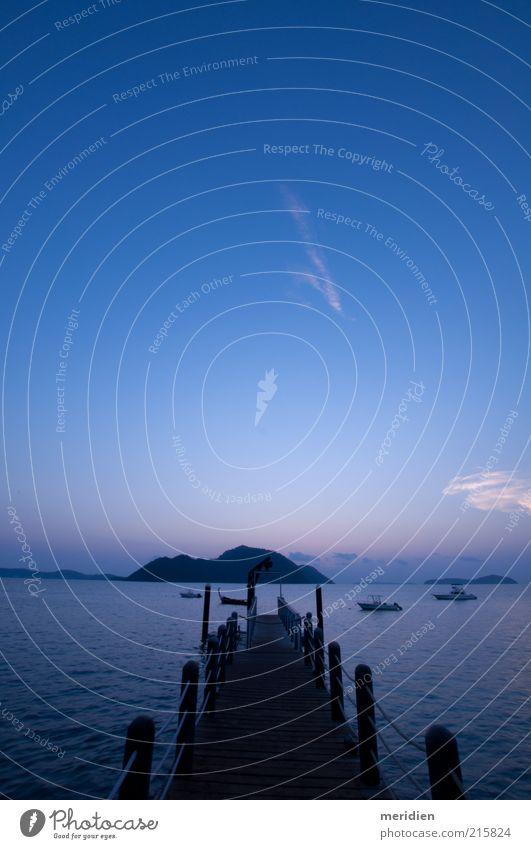 Blaues Paradies Natur Landschaft Wasser Himmel Schönes Wetter Ferien & Urlaub & Reisen blau Stimmung Geborgenheit trösten Gelassenheit Selbstbeherrschung