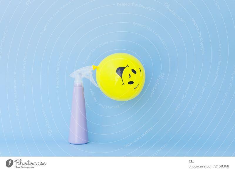 luft und laune Feste & Feiern Karneval Geburtstag Luftballon Sprühflasche Zeichen Smiley lachen außergewöhnlich Fröhlichkeit lustig positiv gelb Gefühle