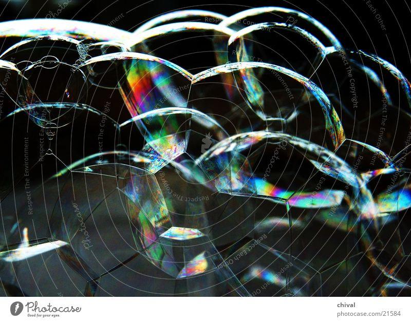 Seifenblasen 4 Licht Regenbogen Bubble Farbe Reflexion & Spiegelung Interferenz Gefängniszelle Bienenwaben