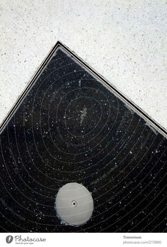Ausschnitte weiß schwarz Stein Metall Design ästhetisch Ecke rund Boden Spitze fest Fliesen u. Kacheln Stahl Furche Fuge eckig